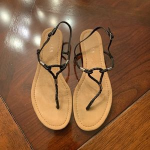 Lauren Ralph Lauren Braided Leather Sandals 8 1/2